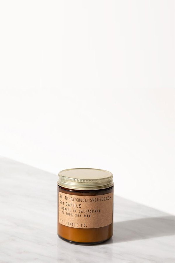 P.F. Candle Co. Patchouli Sweetgrass 3.5 Oz Soy Candle