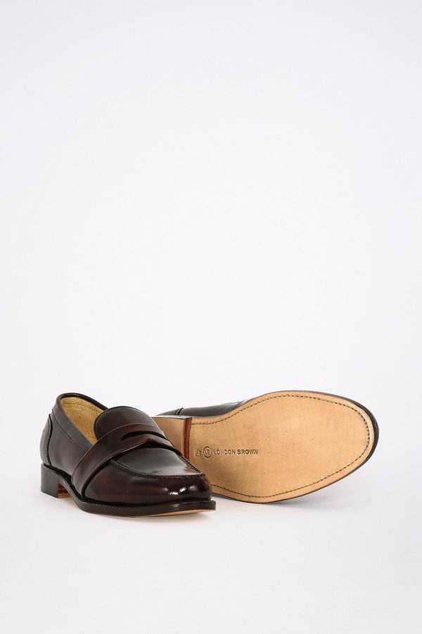 London Brown Penny Loafers