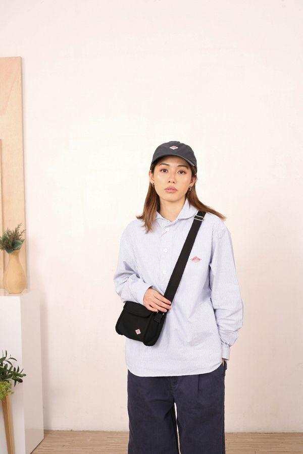 Danton Cotton Canvas Flap Shoulder Bag
