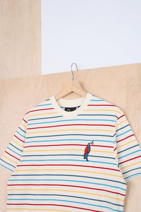 Parra Staring Striped Tee